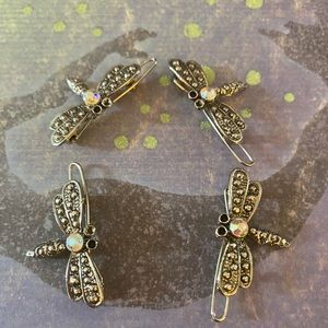 Beautiful Vintage 4 Firefly Hair Pins